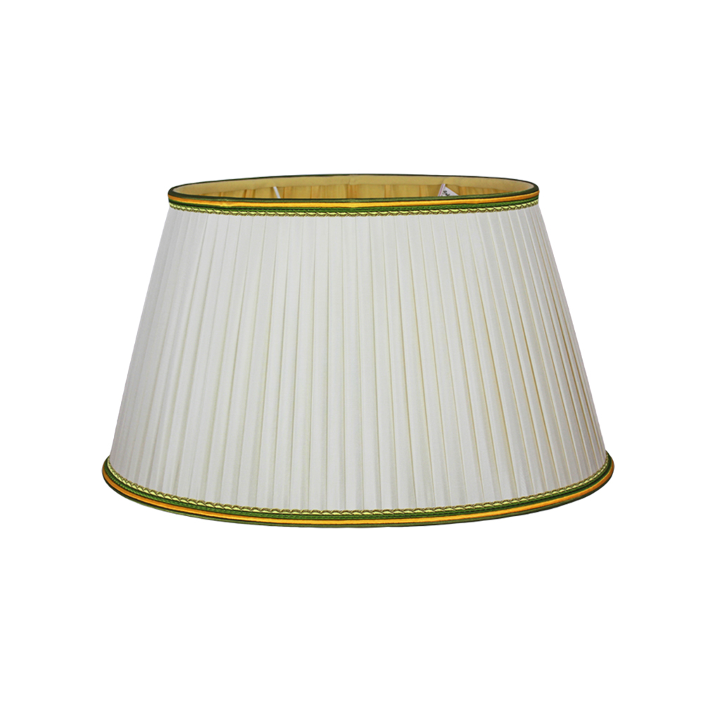 Gold French Oval Handmade Pleated Silk Lampshade