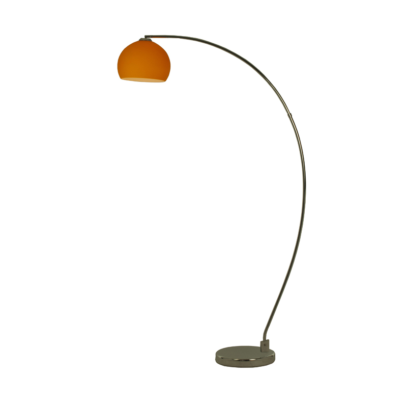 Lottie retro floor lamp with an orange shade for Giant retro floor lamp the range