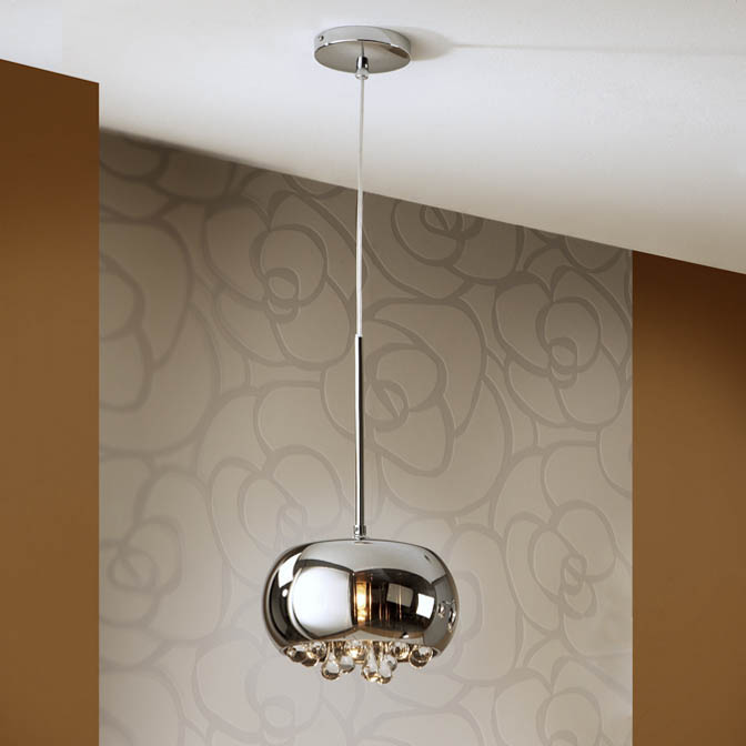 Argo Small Crystal Led Pendant