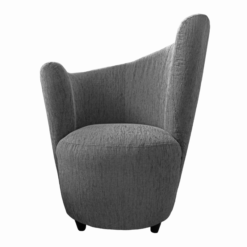 grey contemporary tub chair. Black Bedroom Furniture Sets. Home Design Ideas