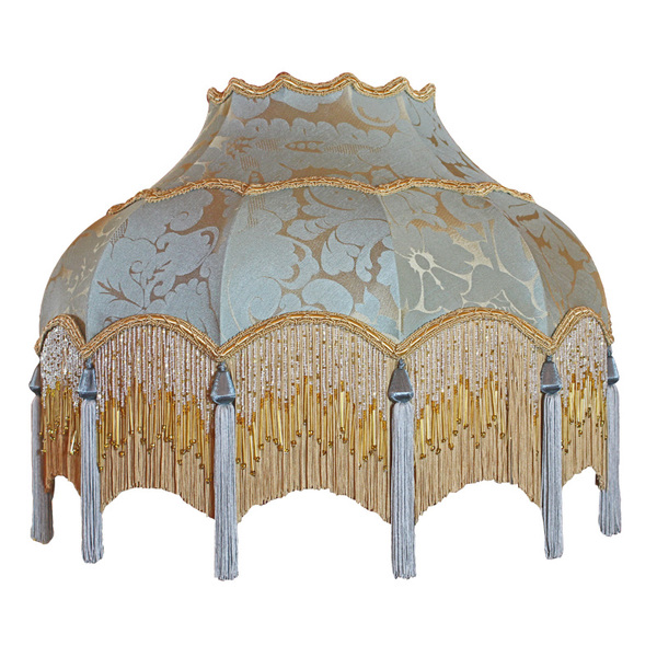Traditional Vintage Period Fringed Silk Lampshade