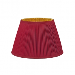 Burgundy and Gold pleated Lampshade