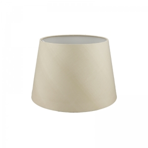 Traditional standard lampshades decor harrogate french drum silk lampshade in oyster mozeypictures Choice Image